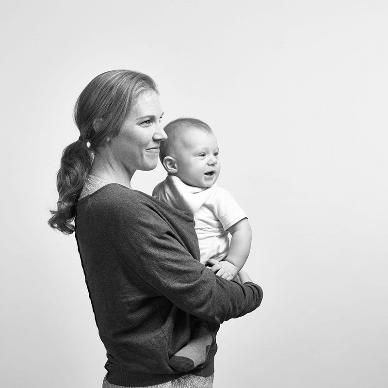 MAS Insurance Member Hannah and her baby looking to the right