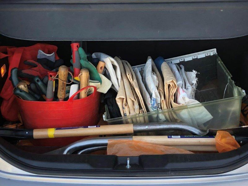A trunk load full of tools