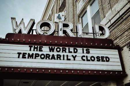 The world is temporarily closed by Edwin Hooper on Unsplash