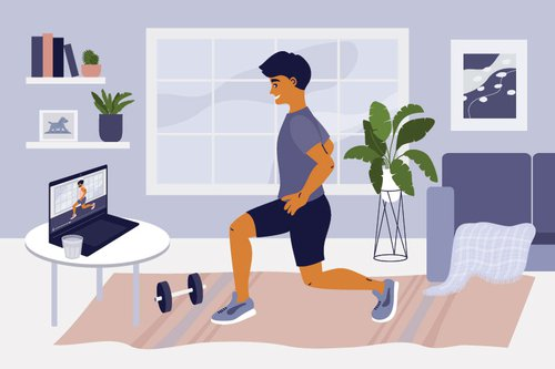 illustrative-of-man-exercising-to-an-online-tutorial
